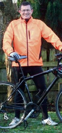 Nick Court, of Todenham Road, in Moreton, has challenged himself to cycle a minimum of 4,545 miles during 2014