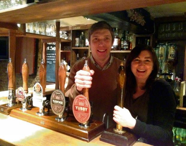 CHEERS: Jim and Claire Alexander, owners of the Ebrington Arms.