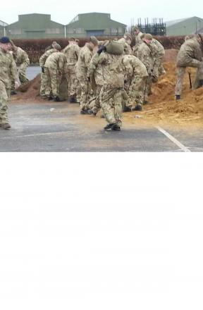 Army troops support Gloucestershire for second day, picture by GCC