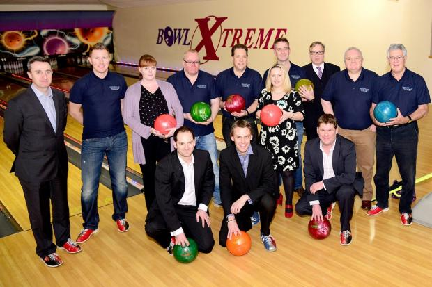Cotswold Journal: Bowlers at the fundraising event at Bowl Xtreme in Droitwich Road