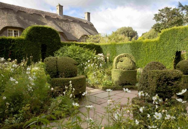 Bird topiary in the White Garden at Hidcote. Picture by National Trust Images/ Chris Lacey