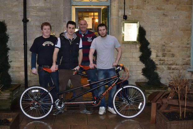 Cotswold Journal: l-r James Hicks, Kevin Goodwill, Michael Morris, Tony Hughes