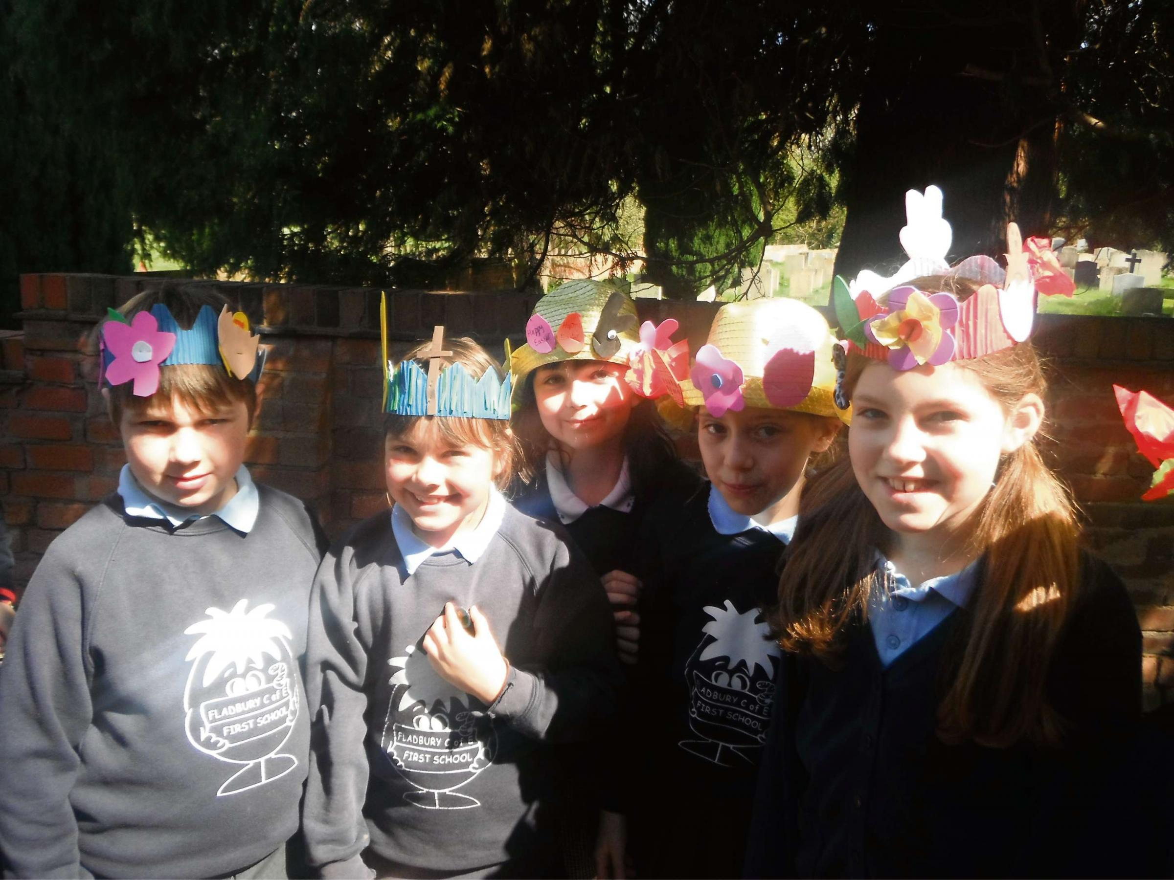 Easter bonnets fill streets of Fladbury