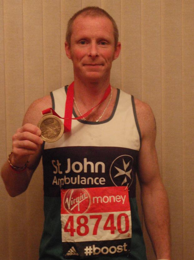 Cotswold Journal: Warren Mantle, who ran for St John Ambulance