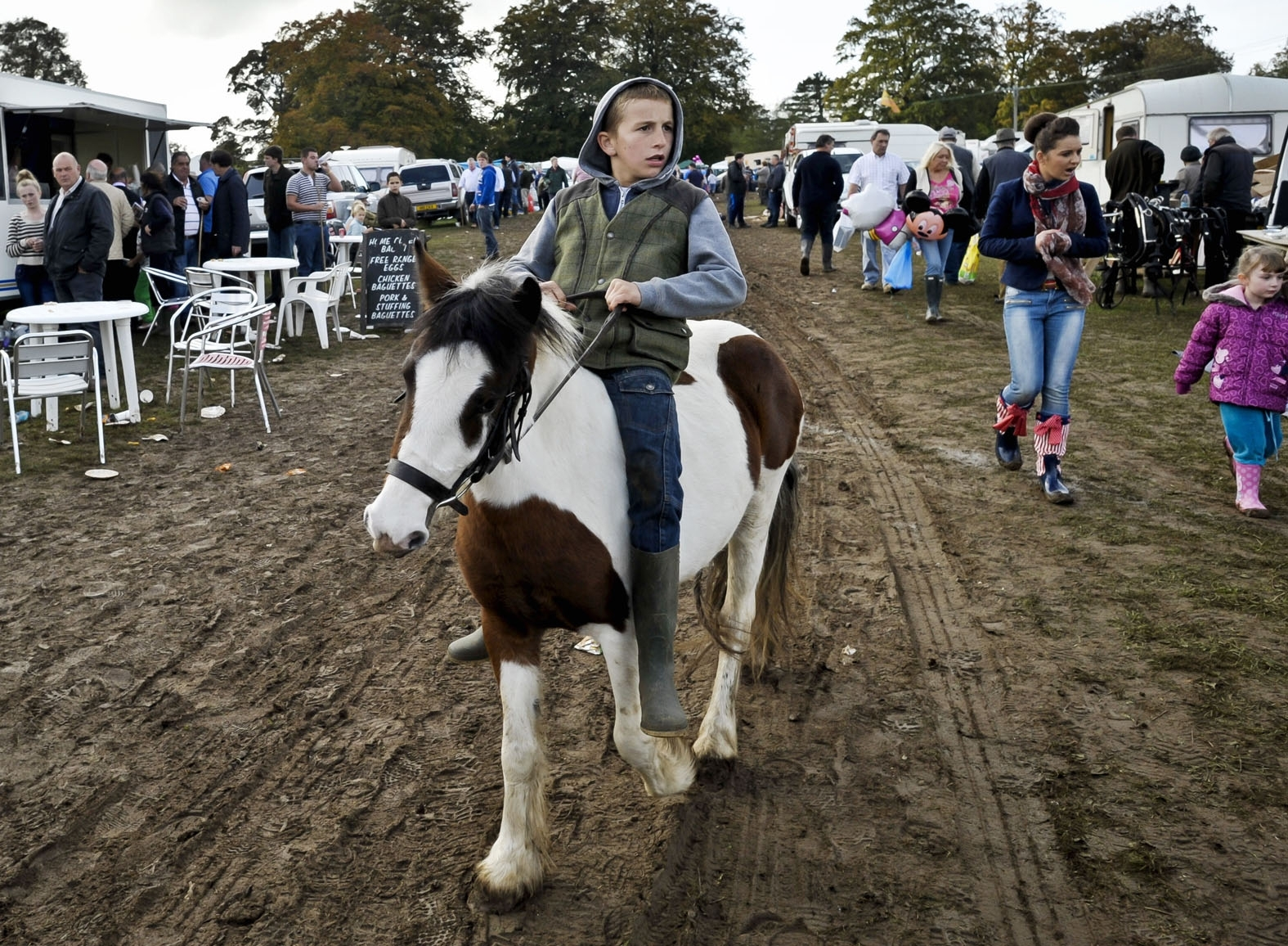 The October Stow Fair. Picture by Ben Birchall / PA