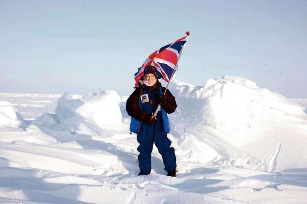 ON TOP OF THE WORLD: Jan Meek who is trekking to Everest Base Camp in preparation for an exhibition to the South Pole