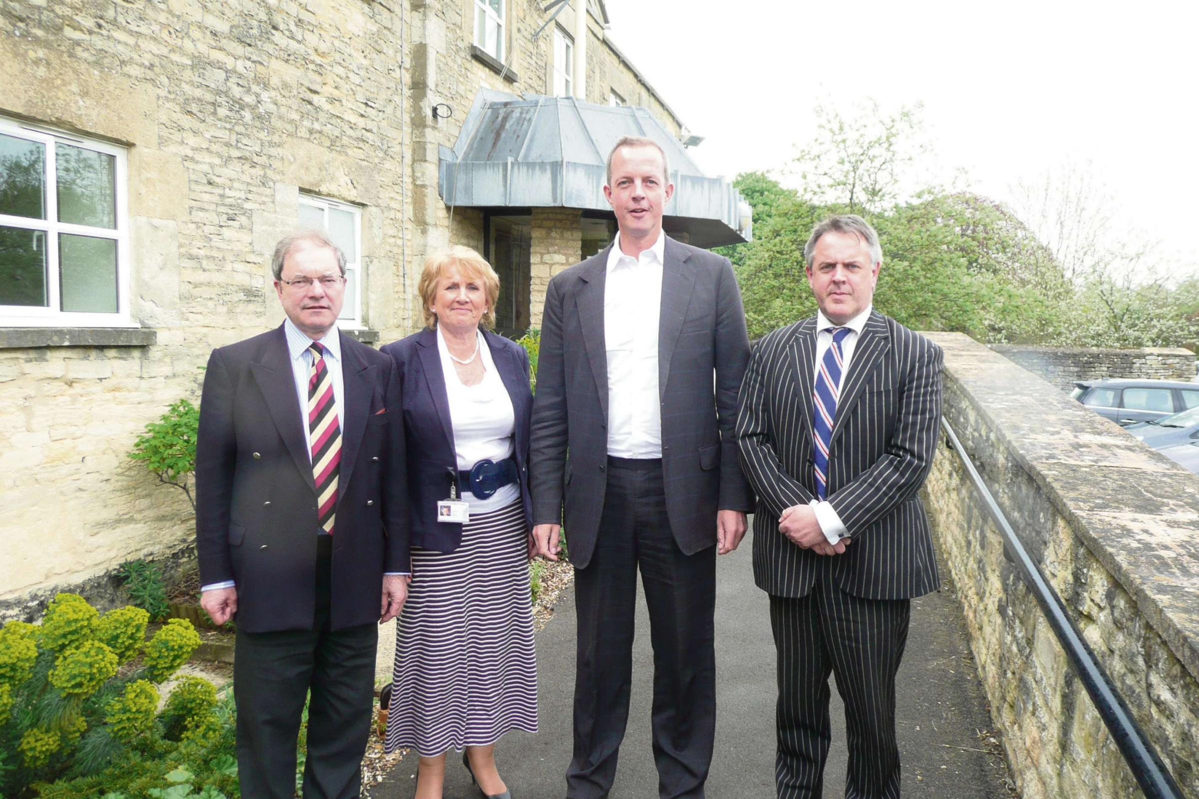 l-r Cotswold MP Geoffrey Clifton-Brown, Councillor Sue Jepson, Cotswold District Council Cabinet Member for Planning and Housing, Nick Boles MP, and Councillor Lynden Stow, Leader of Cotswold District Council.