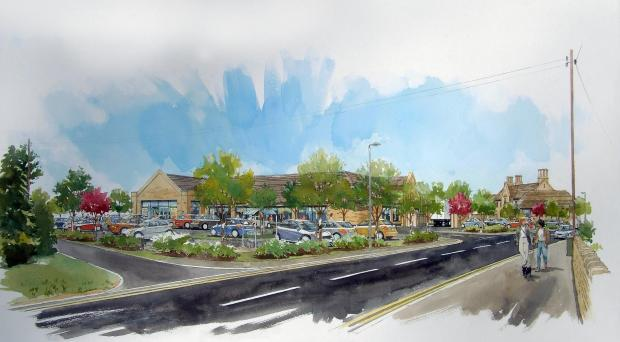 PLAN: Bourton Parish Council is backing new store plans. Picture courtesy Gould Singleton Architects.
