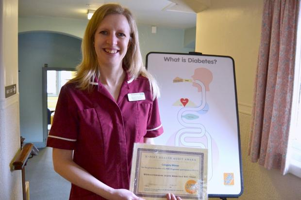 Specialist diabetes dietician at Worcestershire Acute Hospitals NHS Trust Rosanne Dunkley  with the Xpert certificate