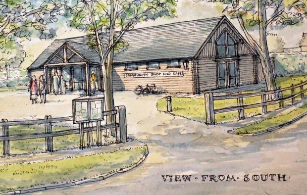 An artist's impression of how the village shop might look.