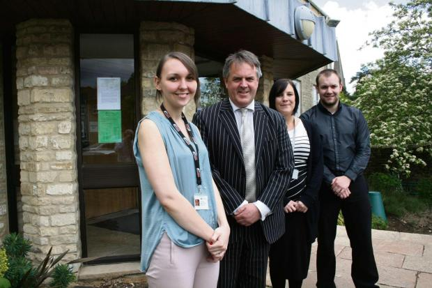 Cotswold Journal: l-r Jessica May, Cllr Lynden Stowe, Claire Blundell and Nathan Owen.