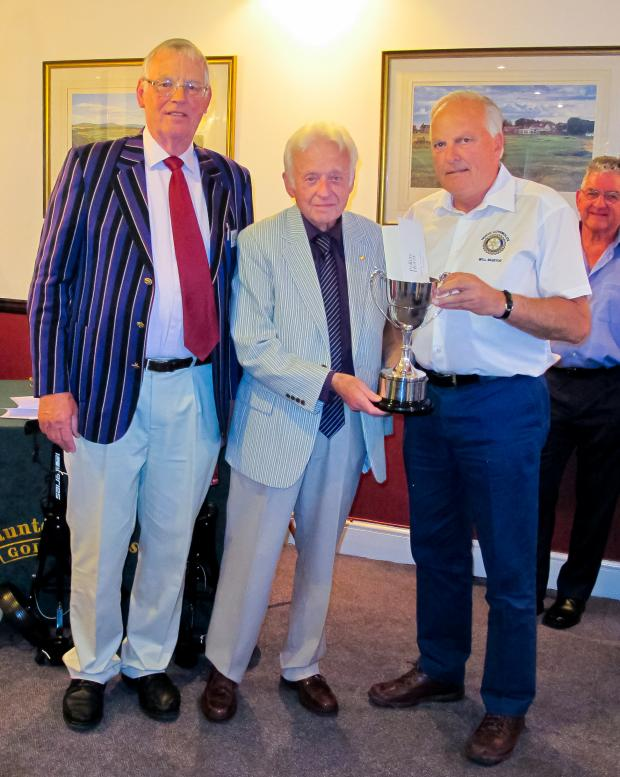 Cotswold Journal: Rotarians Bryan Sumner, Geoff Sanders and Will Mustoe, winner of the Clifford & Webb Cup.