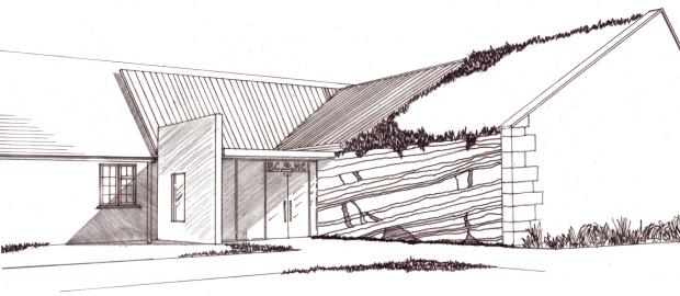 An artist's impression of the enlarged Blockley Heritage Centre.