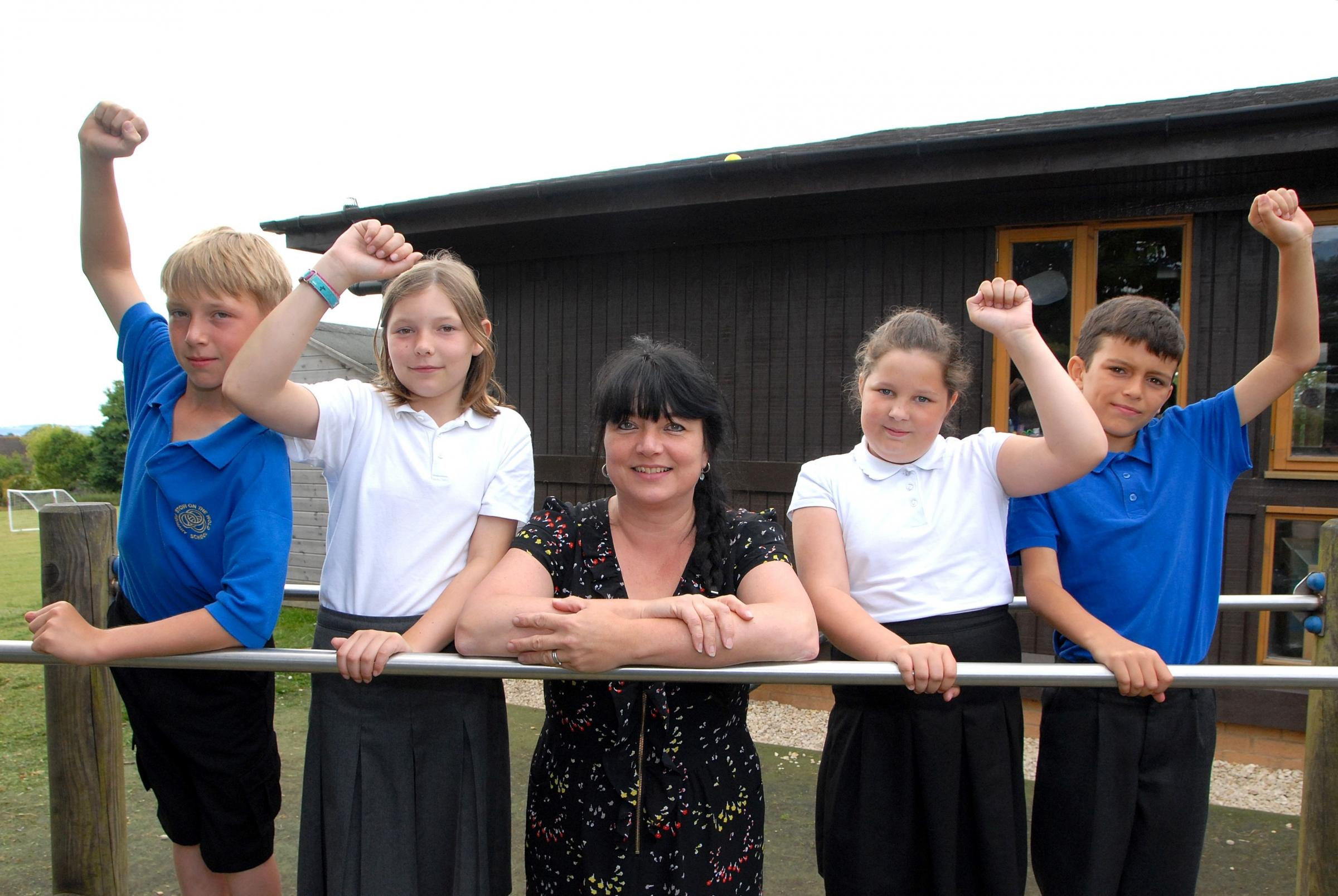 Stow Primary celebrates Ofsted result
