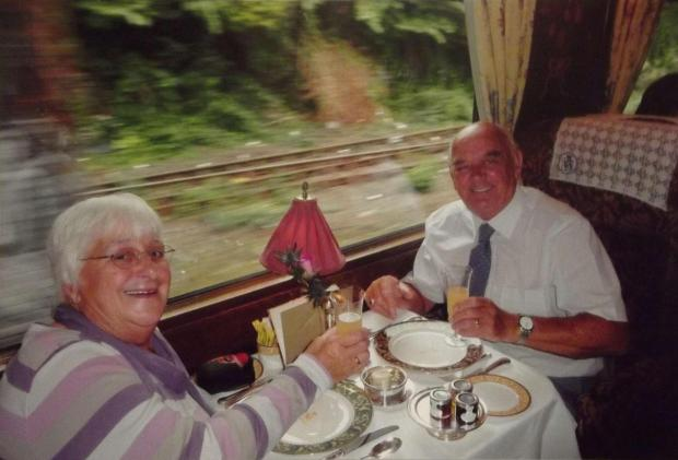 Bryan and Cynthia Leather on the Northern Belle before her death