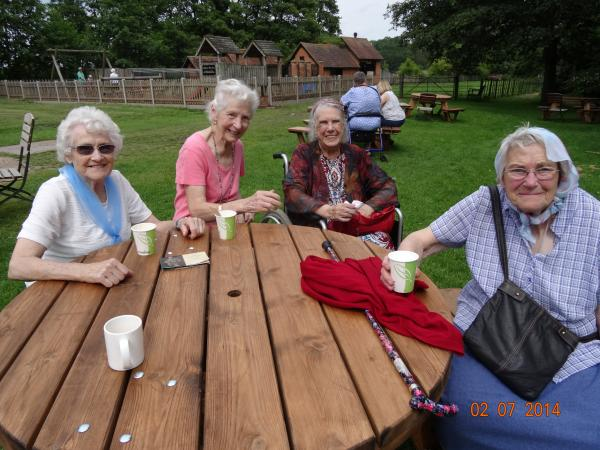 Residents of the lunch clubs from Stour Court and Rainbow Fields, Shipston.