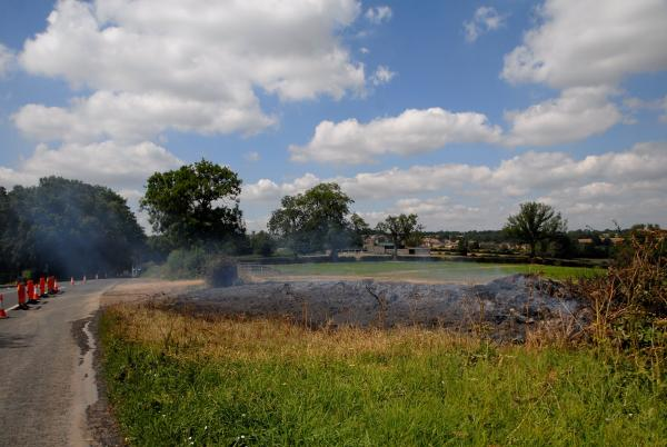 Two-hundred tonnes of hay goes up in flames