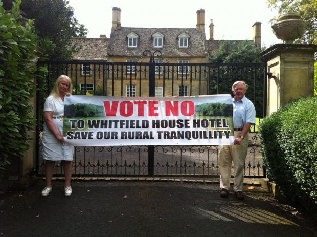 BATTLE: Angela & Charles Trevelyan outside Whitfield House