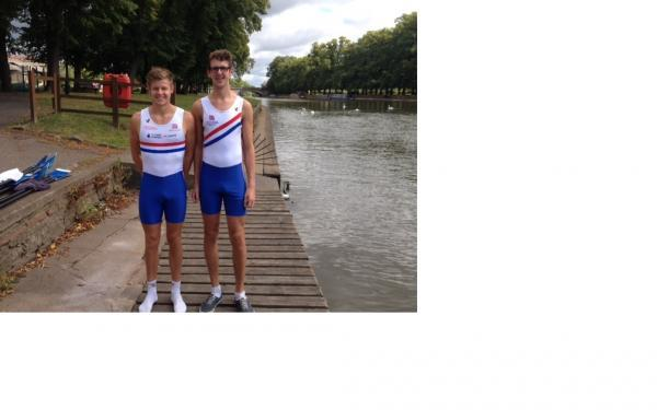 NATIONAL HONOURS: Liam Tustin and James Mackins rowed for Great Britain.