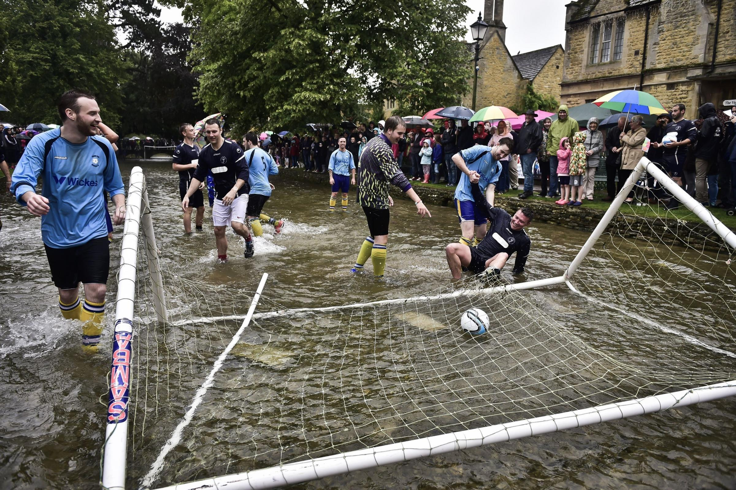 Footballers wade in to raise funds