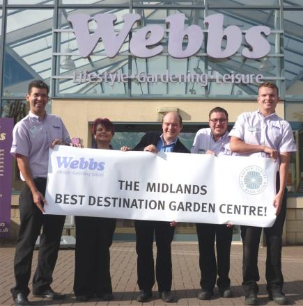 HAPPY: Andy Wrightson (product category manager – leisure;),  Kim Campbell (houseplants manager) , Ed Webb (chairman), Steve Chance (aquatics manager) and Harry Batchelor (tills senior) celebrate Webbs win.
