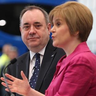 Nicola Sturgeon (right) says she is focusing on persuad