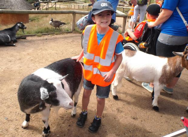 FUN: Young Edward enjoys a typical outing with Malvern Special Families