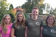 FIT FAMILY: (left to right) Hannah, Tori, Sam and Claire.
