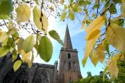 4114723307. 07/10/14. The spire of St Michael and All Angels church, Ledbury. Picture by Nick Toogood. (11224014)