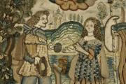 An example of seventeenth century embroidery on show at the Ashmolean Museum, Broadway, until summer.