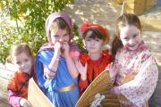 Swell Primary School pupils enjoy World Book Day. From the left: Isobel Crane, Daisy Burns, Mia Cannon and Zara-Lou Hobson.