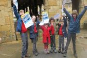Children from St Catharine's Catholic Primary School, Chipping Campden,helped launch this year's Cotswold Way MAD Challenge Walk