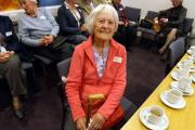 Edna Styles, 104, who attended the Tomkinson's reunion at the Museum of Carpet