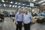 FACTORY FLOOR: David Furness, director of the BIAFD, with Barton Coldform managing director Andrew Nuttall
