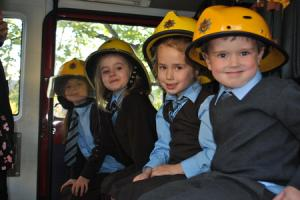 Dormer House School pupils become firefighters for the day