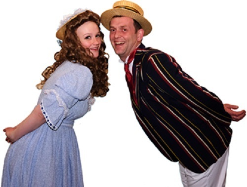 MUSICAL: Hannah Burton and Steve Miller as Ann and Kipps in the PODS version of Half a Sixpence