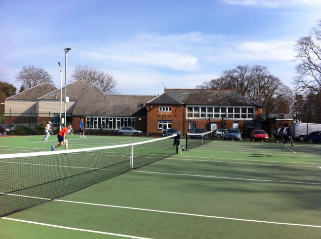 The tennis courts at Evesham