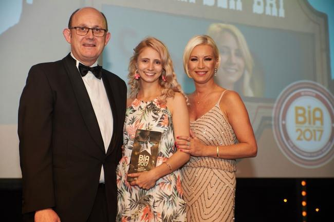 Ivor McKane, channel director at CSM, Kate Woods, Campden BRI and Denise van Outen