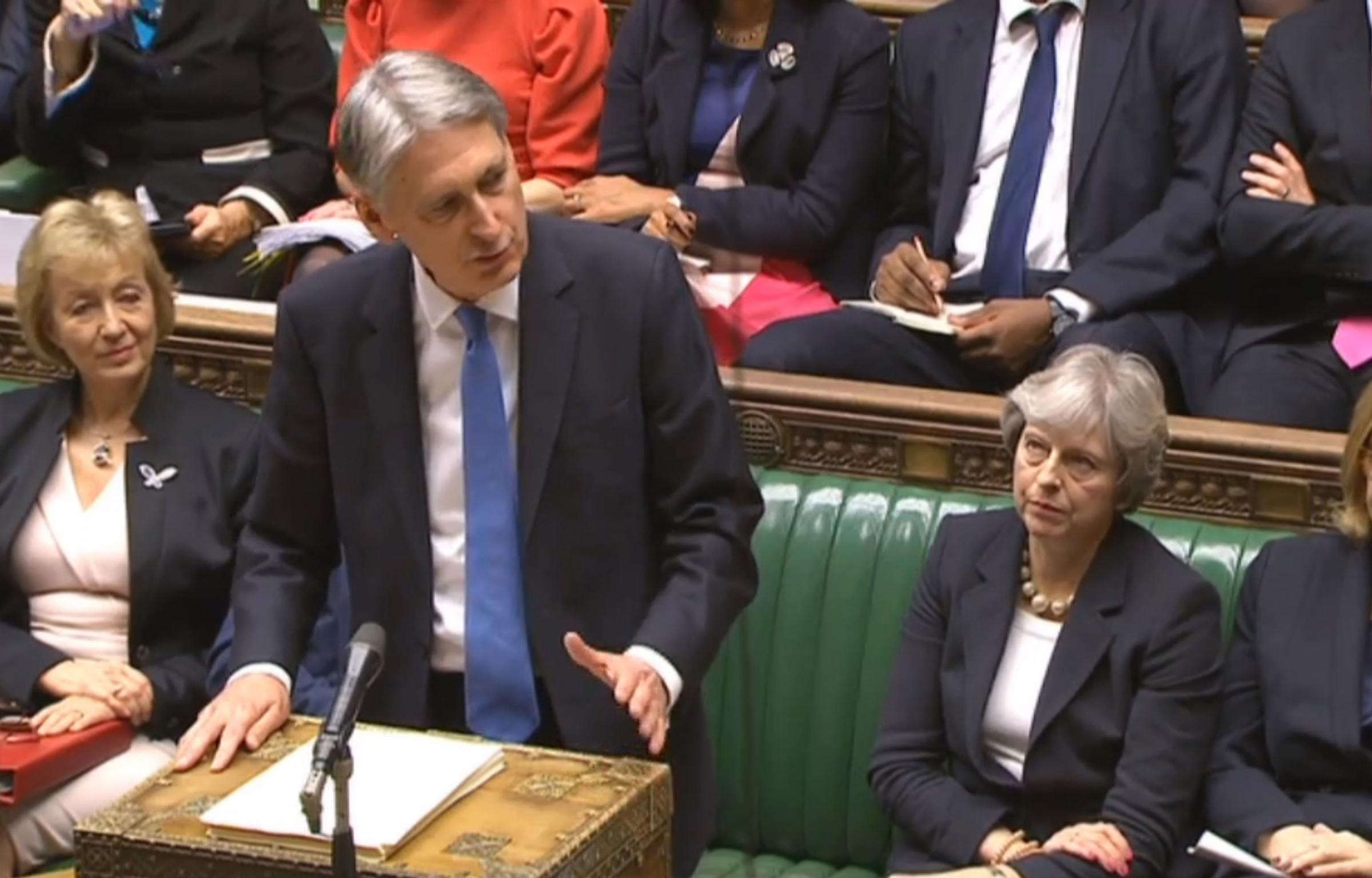 STATEMENT: Chancellor Philip Hammond delivers his budget speech to the House of Commons. Picture: PA Wire.