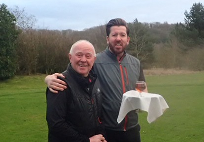 The Vale's new seniors captain Andy Jinks (left) with membership secretary Peter Turner