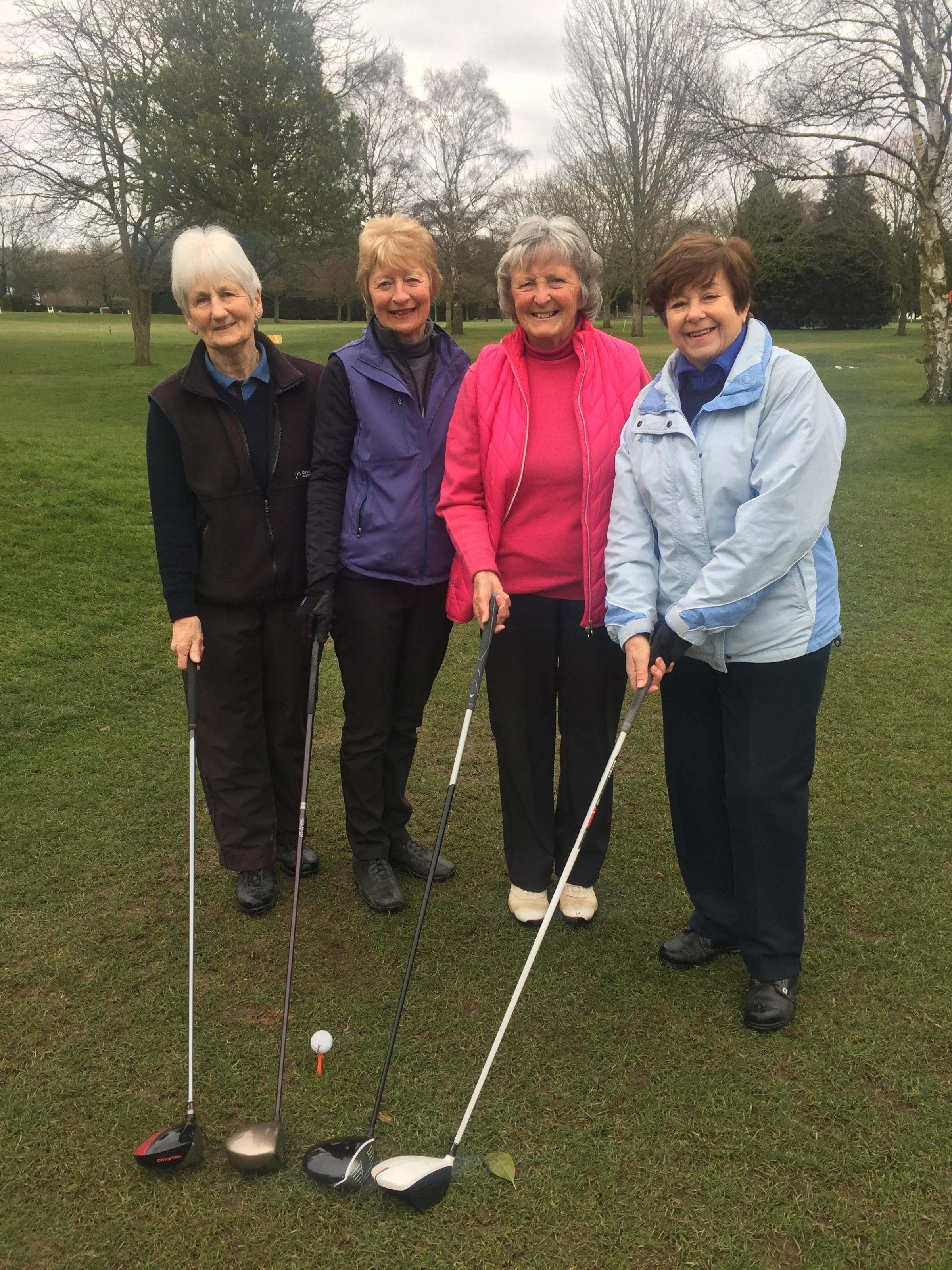 FEARSOME FOURSOME: Evesham Golf Club's female captains Conryn Abbott, Eunice Allen, Patsy Brumage and Angela Budden.