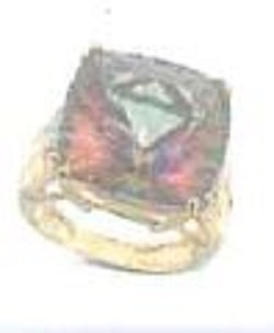 VALUABLE: A rainbow ring was taken from an elderly woman's home. Photo: Gloucestershire Police