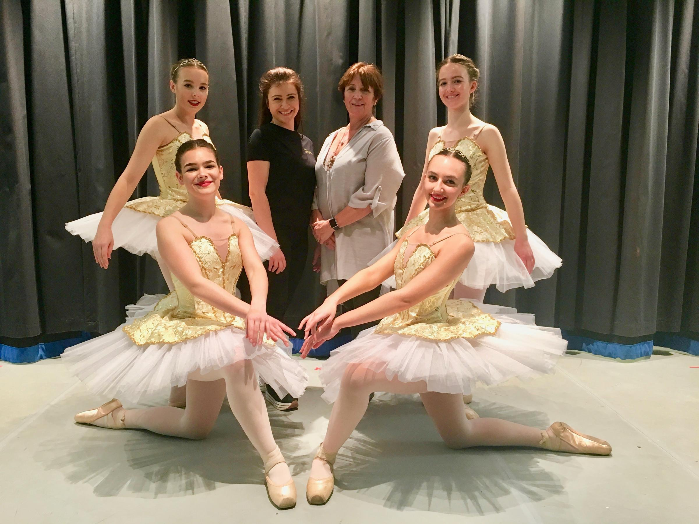 DANCE: Left kneeling: Nicola Durrell, left standing Beatrice Tweedie, Beccy Clark, Sheila Price, right standing Isobel Seward, right kneeling May Mackinnon-Little.