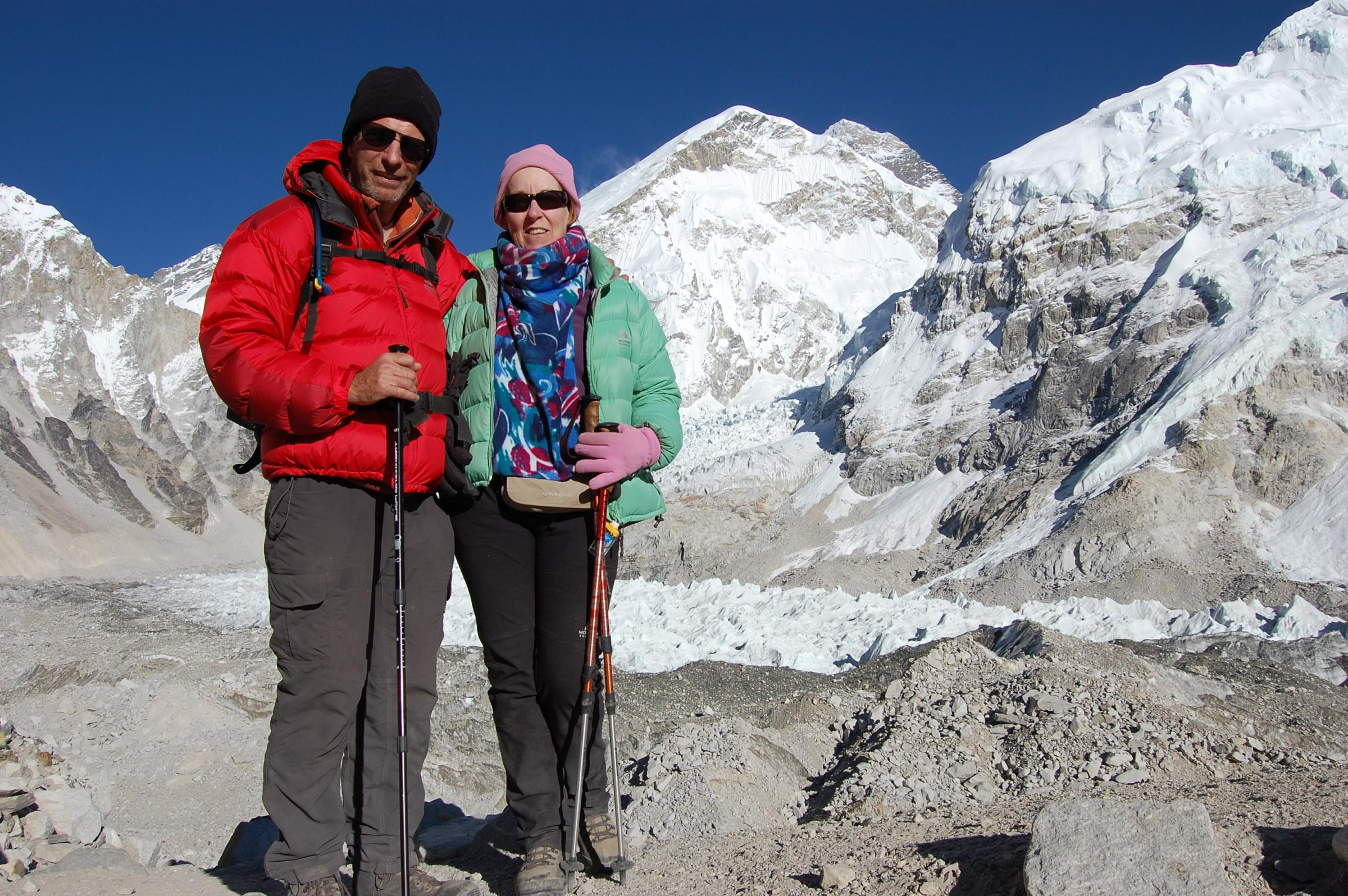 Challenge: Mike Schoen is preparing to climb Kilimanjaro. Pictured with his wife Mary
