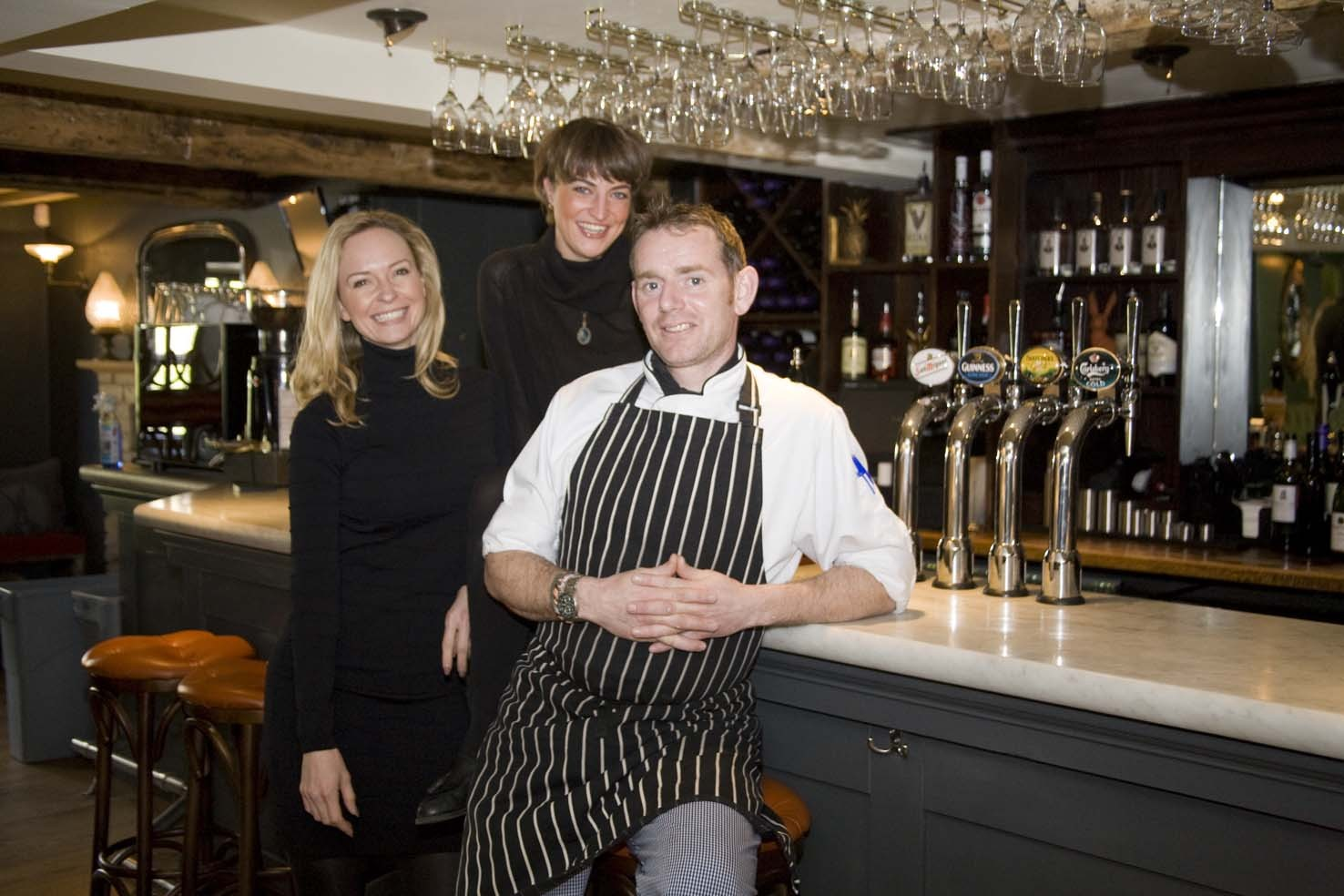 CELEBRATION: Rachel Hawkins, co owner, Henrietta Stanley, general manager and Matt Dare head chef