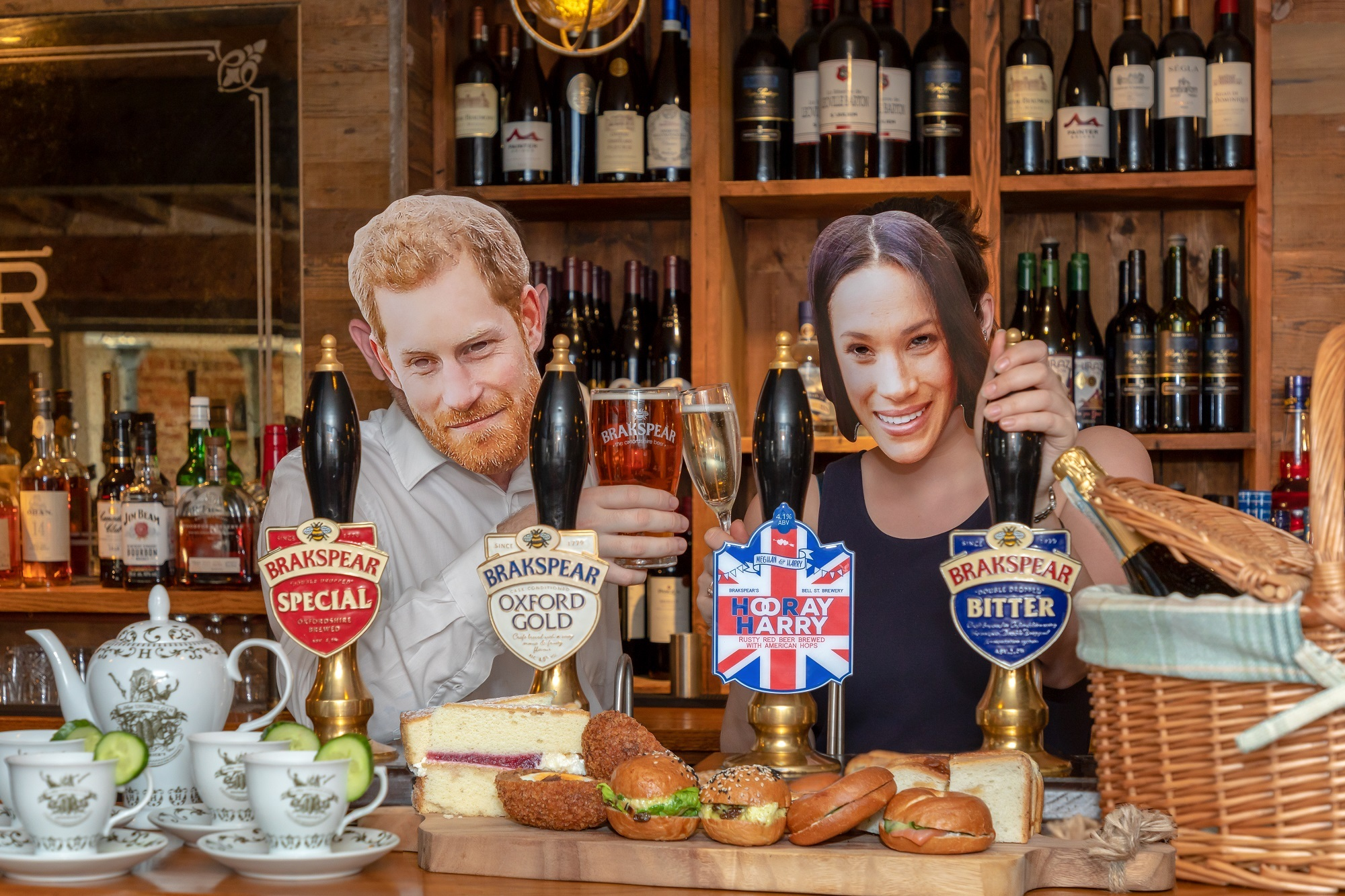 CHEERS: The Porch House and The Sheep teams are gearing up to celebrate Prince Harry and Meghan's big day with locals