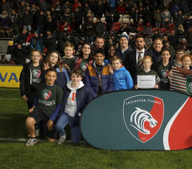 Kingham Hill School pupils at Leicester Tigers