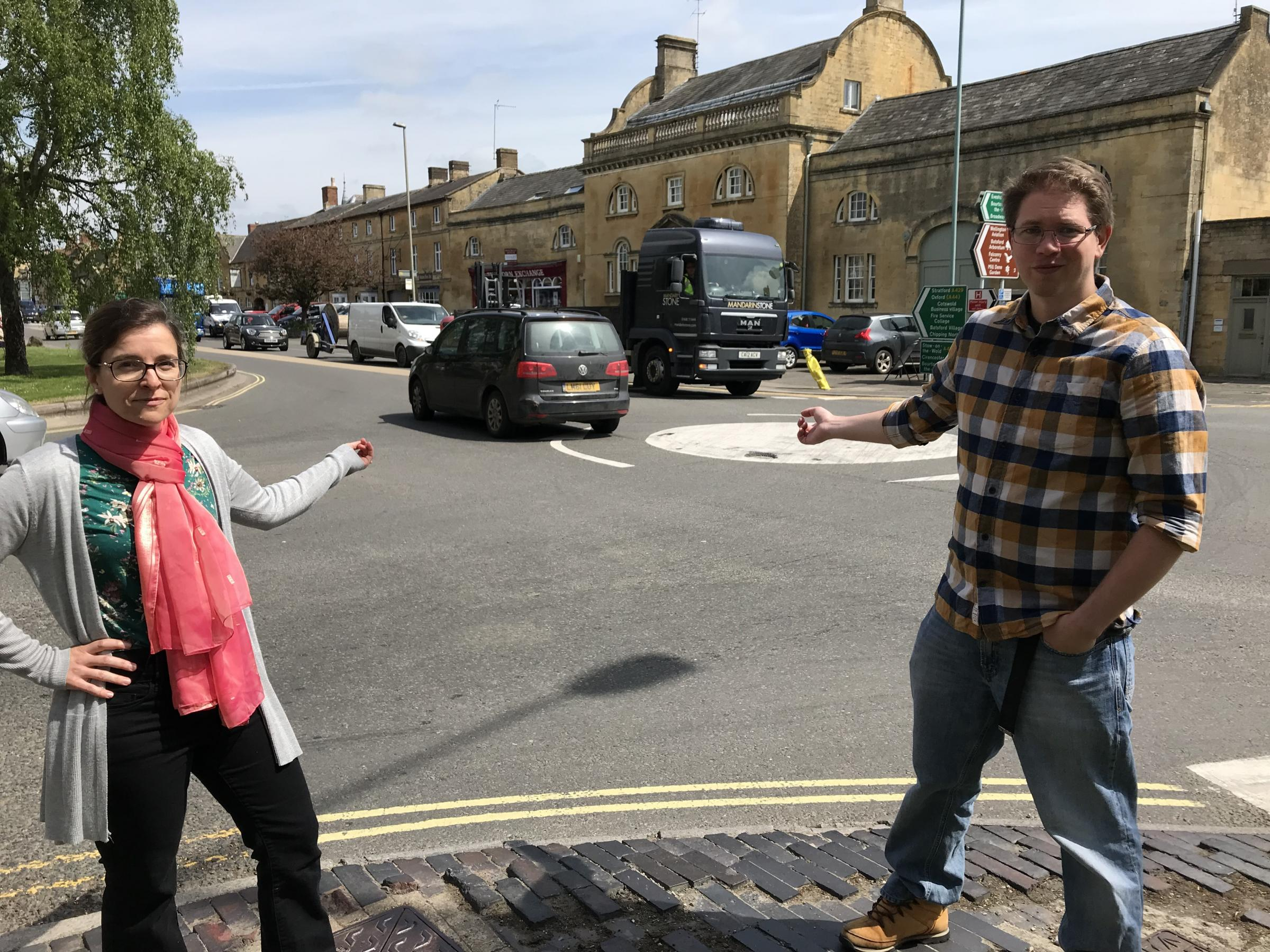 CRITICISM: Rachel Coxcoon and Clive Webster have slammed council highways over these £50,000 roundabouts