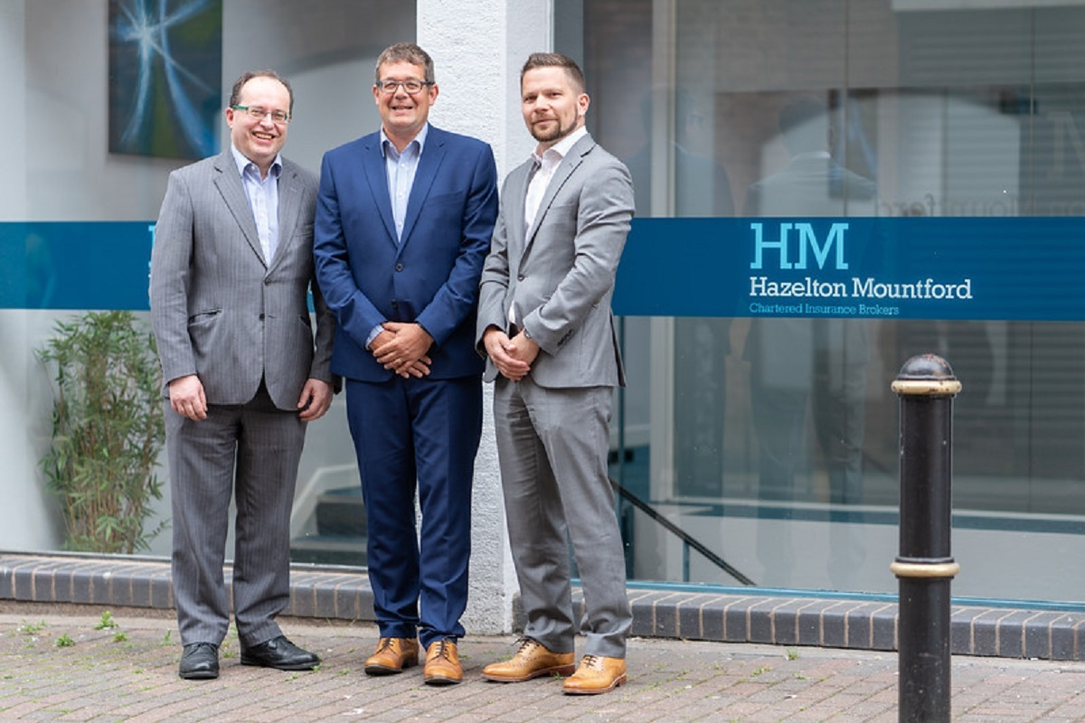 LANDMARK: Gordon Hazelton, managing director, Simeon Chapman, director with Jake Mountford, director all from Hazelton Mountford, celebrating the company's 10th anniversary. Picture: Roger Byrne