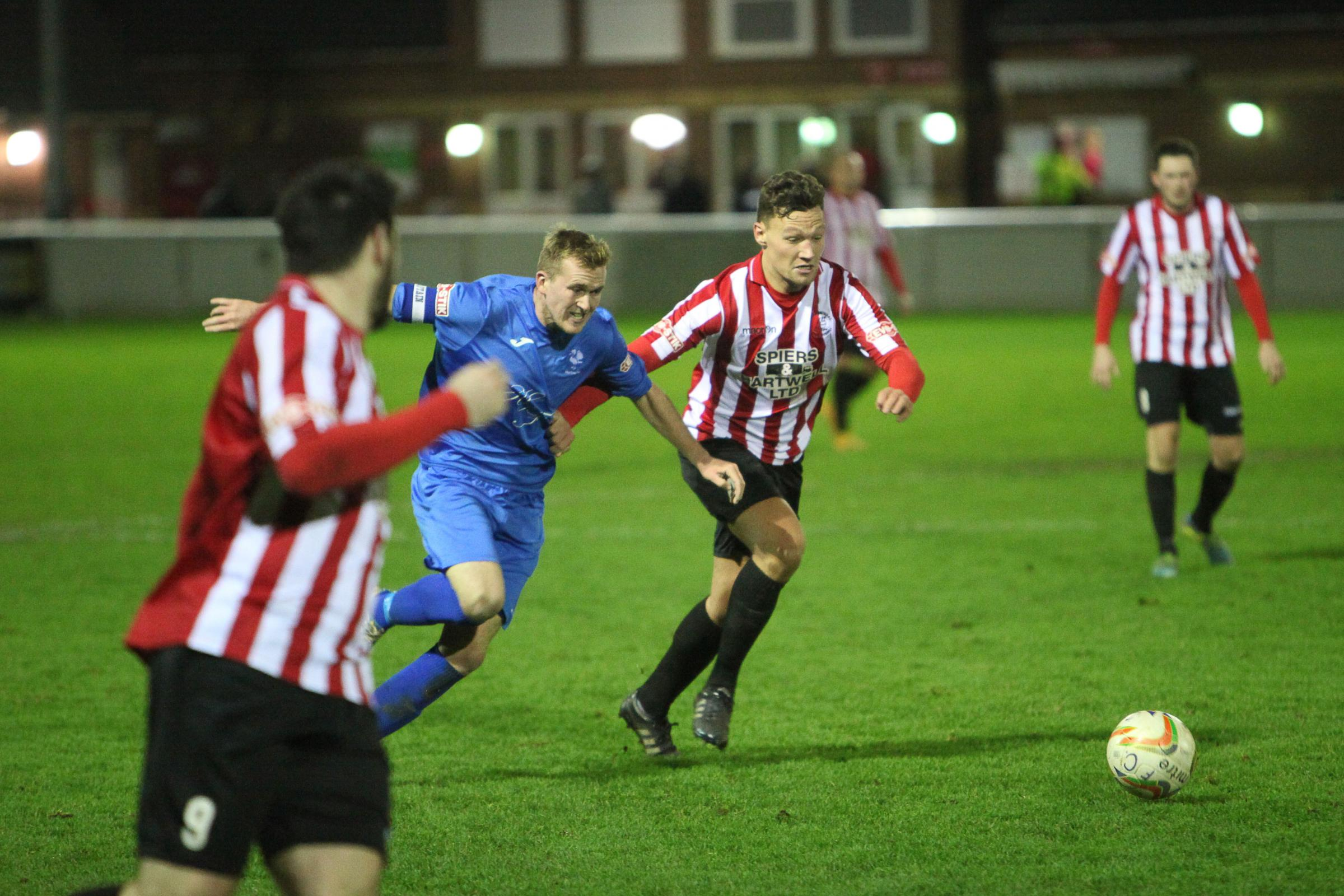 READY TO ROLL: Evesham United's Liam Harding